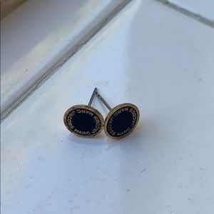 Marc Jacobs Black and Gold Stud Earrings